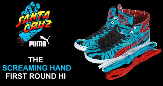 3a7c954e838f Santa Cruz x Puma – First Round Hi